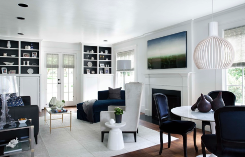 White Room With Black Accents