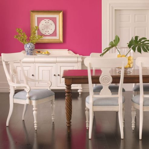 HOT Pink Dining Room Walls