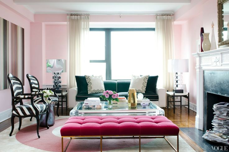 Pink Living Room Ideas: ROWE SPURLING PAINT COMPANY