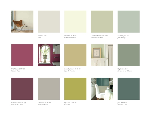 Guilford green benjamin moore colour of the year 2015 for Benjamin moore paint colors 2014