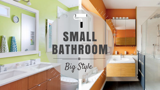Small Bathroom Jokes small bathroom – big style | rowe spurling paint company