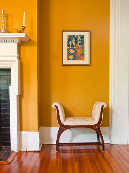 Get the look at home with Benjamin Moore Yellow Marigold 2155-30
